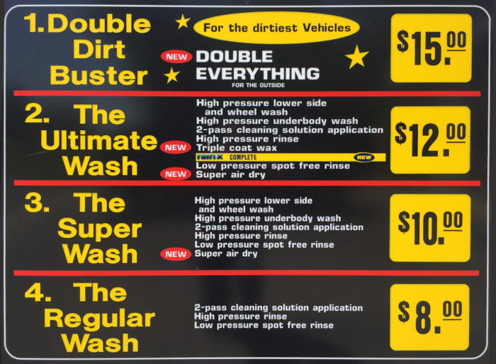 Touchless Automatic Wash Packages